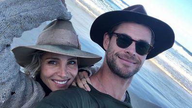Chris Hemsworth, Elsa Pataky, Instagram, selfie