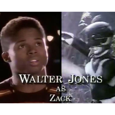 Walter Jones as Black Ranger/Zack Taylor: Then