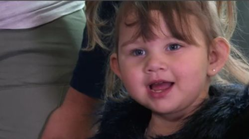 Now aged three, the bioprinter is giving kidney disease sufferers like Aubree new hope for the future. (9NEWS)