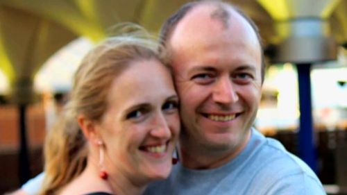 Ms Dawson and her husband Paul Smith. (9NEWS)