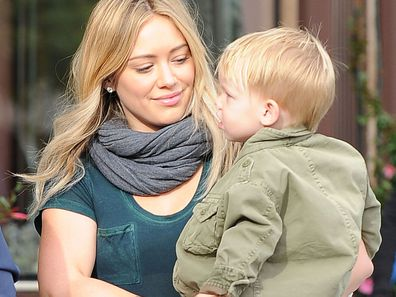 Hilary Duff with son Luca
