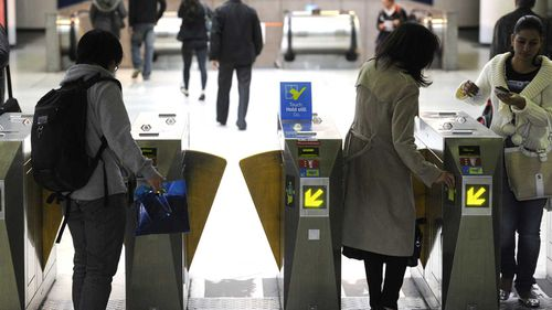 Myki cards are used to touch-on and touch-off on public transport in Victoria.