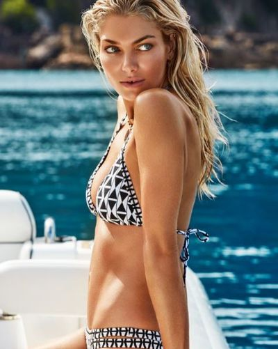 Seafolly model Jessica Hart, 31, has been moving between swimwear and covering Vogue since she started modelling. Jessica is currently appearing in Seafolly's advertising campaigns.