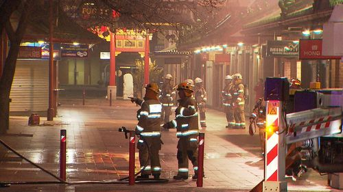 SA Metropolitan fire is expected to be on the scene for sometime to monitor, but the main threat has passed (9NEWS)