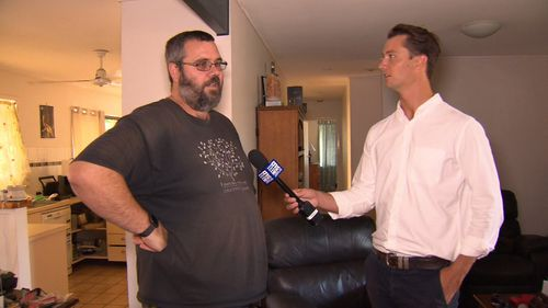 Justin Thomas told 9News the couple came into hi house and said they were being chased and needed a place to hide.