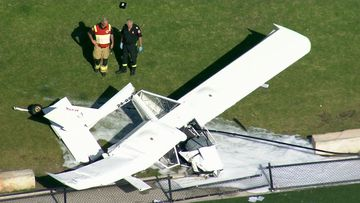 A plane crashed into Cromer Park on Sydney's northern beaches about 4.30pm.