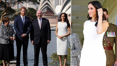 Pregnant Meghan steals show in dazzling white