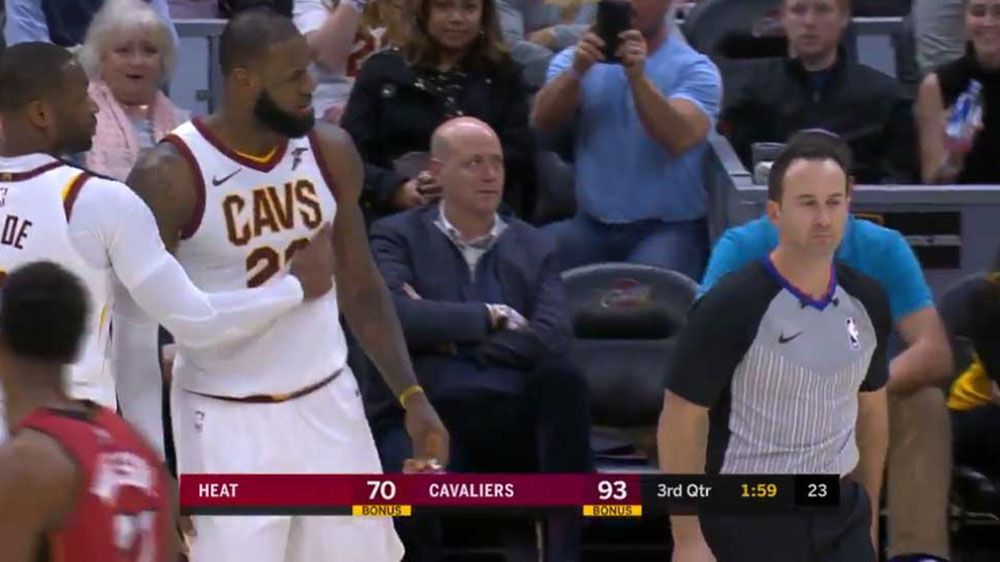 NBA: Cleveland Cavaliers star LeBron James ejected for first time in career