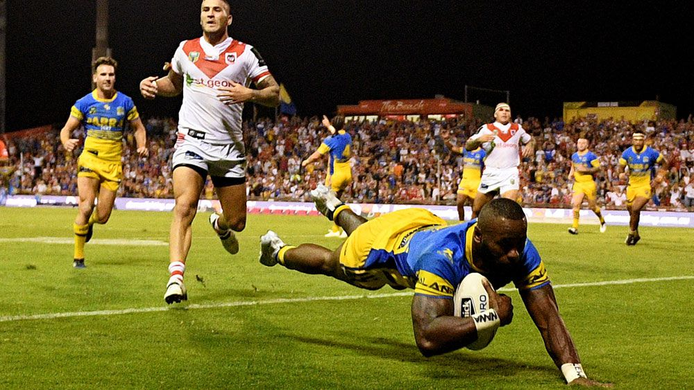 Semi Radradra scores four tries to help the Eels party like it's 1999