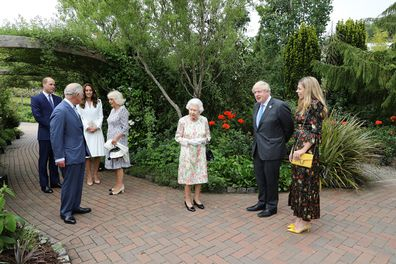 Prime Minister Boris Johnson hosts a drinks reception for Queen Elizabeth, the Duke and Duchess of Cornwall, Duke and Duchess of Cambridge.
