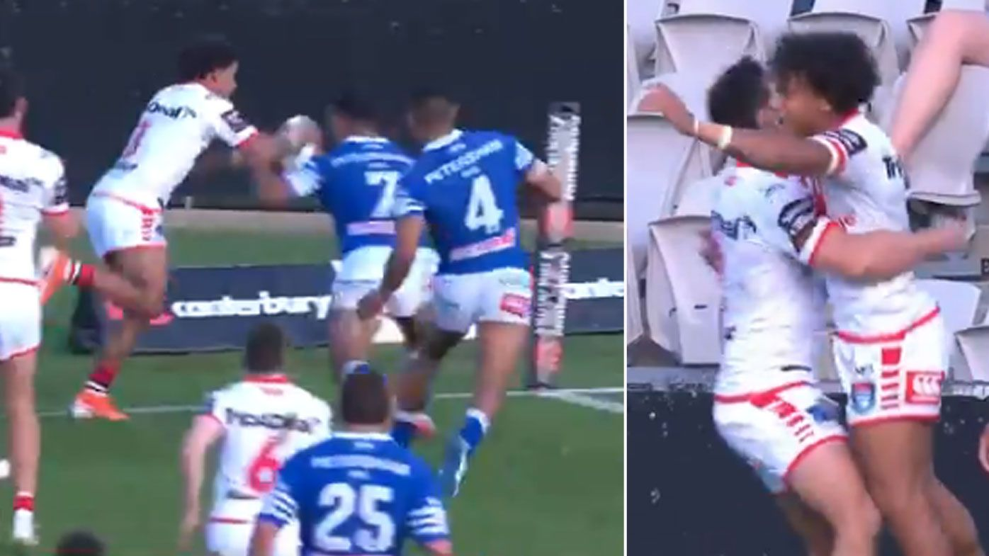 Tristan Sailor scores 'miracle try' for Dragons in Canterbury Cup prelim final loss to Newtown Jets