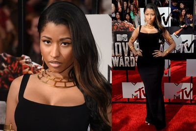 Rapper Nicki Minaj chose a more demure outfit than usual for the MTV Awards. We're shocked!