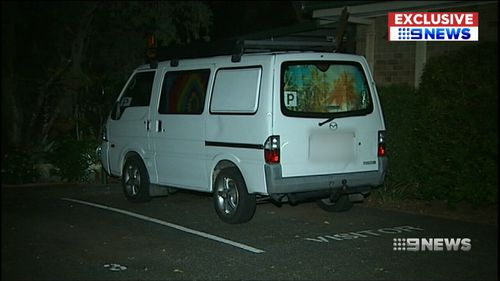 The van allegedly used in the incident. (9NEWS)