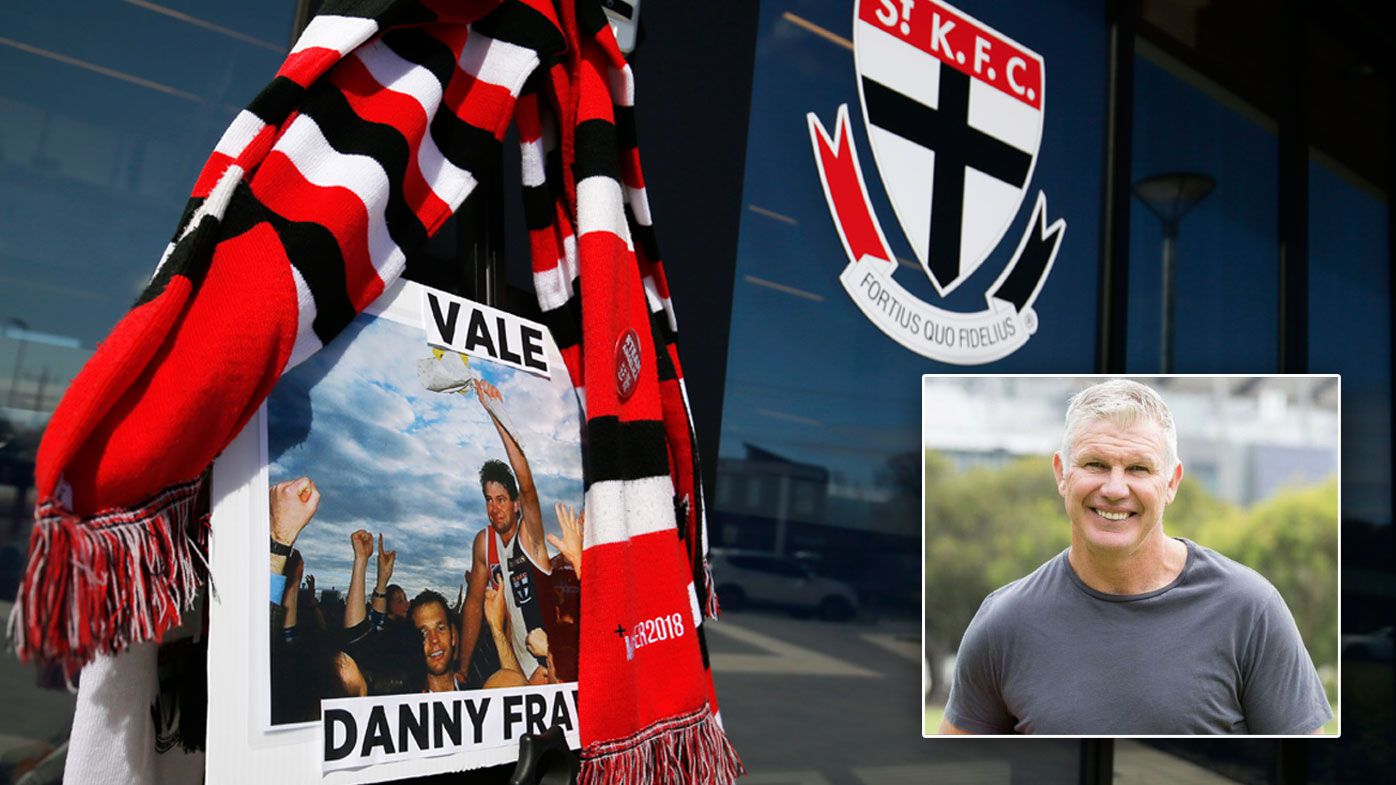 A tribute to Danny Frawley is seen at St Kilda Saints Football Club