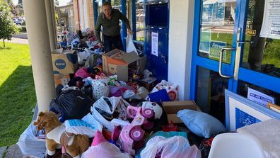 Vinnies is pleading with people cleaning house, not to dump rubbish out the front of stores.