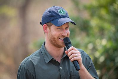 The Duke of Sussex makes a speech as he dedicates Liwonde National Park and the adjoining Mangochi Forest to the Queens Commonwealth Canopy, at a ceremony at Liwonde National Park, Malawi. Monday September 30, 2019.