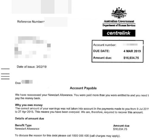 Debt collectors contacted Melissa weeks after her Centrelink debt was due to be paid.