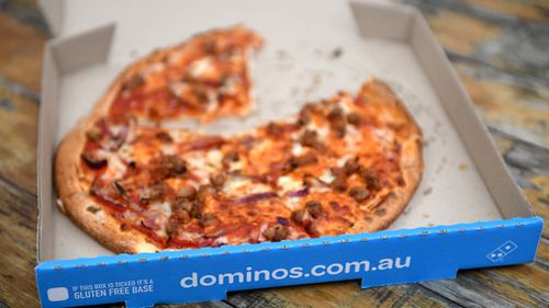 Domino's Pizza was ranked the lowest among Australian fast food giants for its action towards reducing obesity. Picture: AAP.
