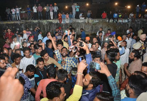 Amrinder Singh, the state's top elected official, told reporters that he had reports of 50 to 60 people dead.
