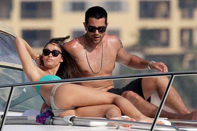 <i>Dallas</i> actor Jesse Metcalfe and his fianceé Cara Santana kicked back in Cabo San Lucas, Mexico.