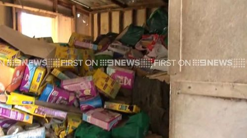 The Adelaide Hills man had allowed rubbish to pile up on the property. (9NEWS)