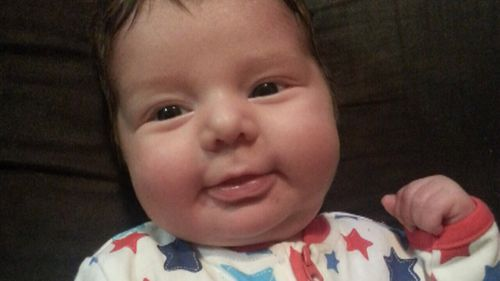 Dylan Nicholls died of SIDS when he was 15 weeks old. (9NEWS)