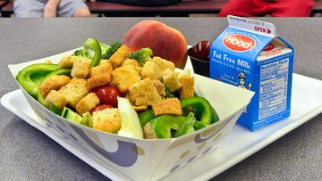 Schools are cracking down on unhealthy lunch choices. (AAP)