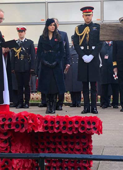 Meghan and Harry at Westminster Abbey's 'Field of Remembrance'
