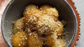 Maha's Turkish delight-filled doughnuts with rosewater honey