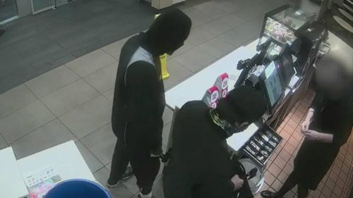 The thieves got away with cash. Picture: 9NEWS