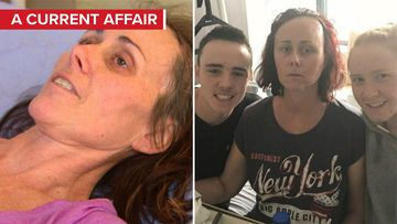 Tumour mum heads home after months of red tape