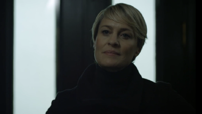 Claire Underwood's unflinching stare is her greatest accessory.