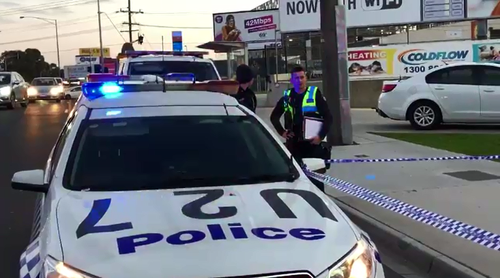 Police were called to Springvale Road when a road rage incident turned violent yesterday afternoon.