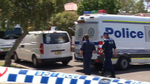 Police are investigating after the woman's body was found in her Toongabbie home this morning. (9NEWS)