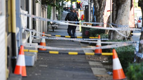 Police continued raids at homes in Surry Hills in Sydney on Tuesday. (AAP)