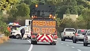 The incident caused major delays along the Pacific Motorway during peak-hour traffic but has since been cleared.