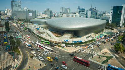 The Dongdaemun Design Plaza in Seoul, Korea.