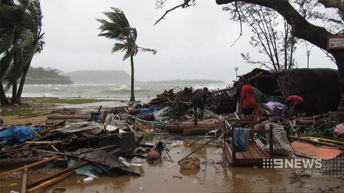The island nation has been hammered by Cyclone Pam. (9NEWS)
