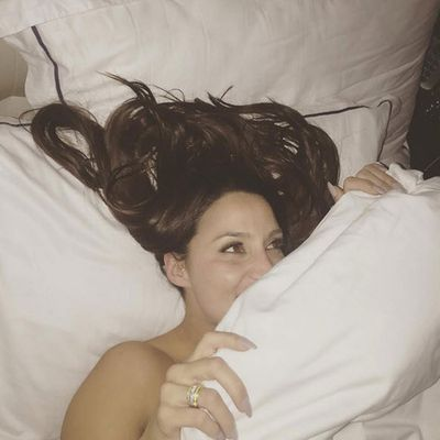 Sam snaps Snez beneath the sheets. Wearing that ring of course!