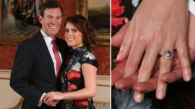 Princess Eugenie's padparadscha sapphire ring