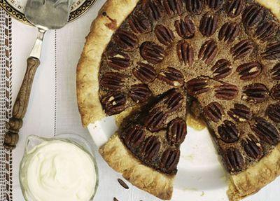 "Recipe:&nbsp;<a href=""http://kitchen.nine.com.au/2016/05/19/14/56/pecan-pie"" target=""_top"">Pecan pie</a>"