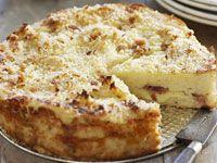 Mozzarella & Prosciutto Potato Cake