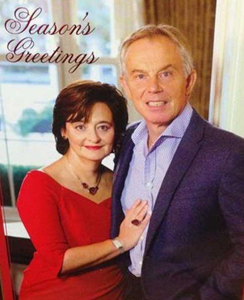 Tony Blair's awkward Christmas card