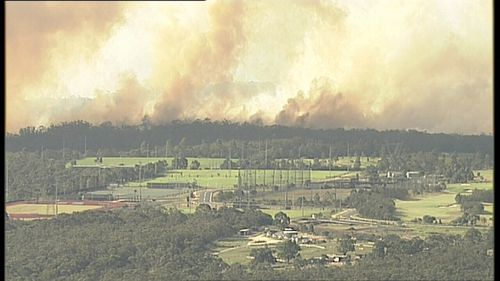 Fire crews will work into the night. (9NEWS)