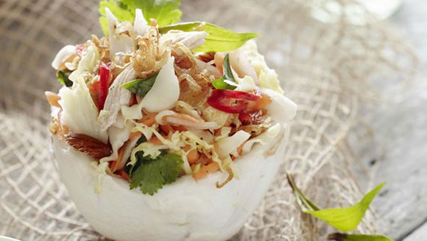 Pete Evans' young coconut chicken salad