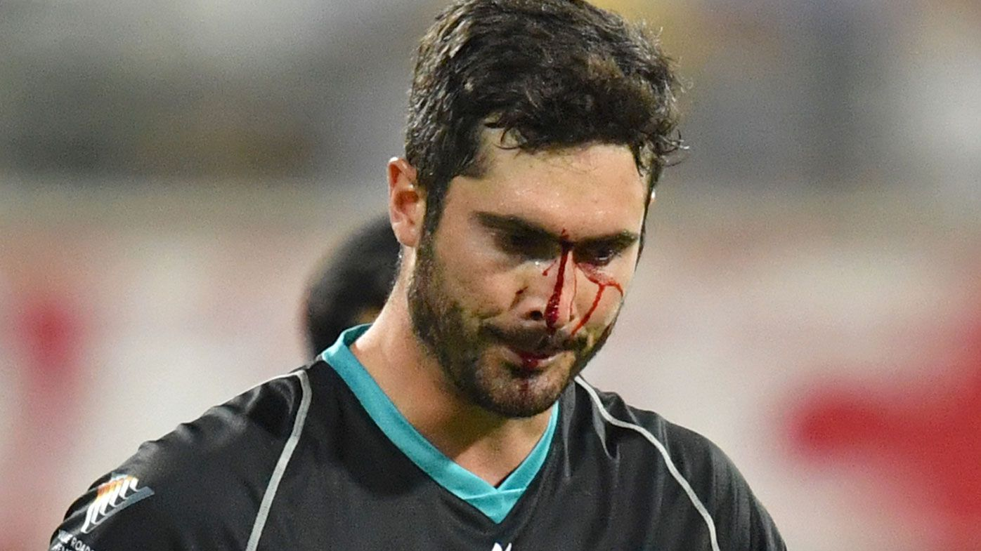 Ben Cutting bloodied as Melbourne Renegades canter to easy win over Brisbane Heat