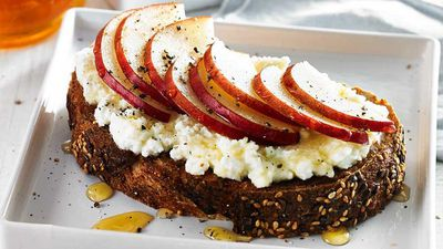 "Recipe: <a href=""https://kitchen.nine.com.au/2017/07/03/13/31/pear-ricotta-toast"" target=""_top"">Pear and ricotta toast</a>"