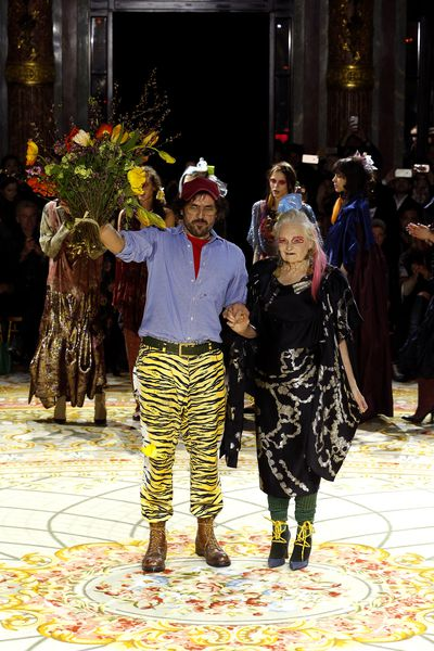 <p>Andreas Kronthaler and Vivienne Westwood, Vivienne Westwood, autumn/winter '17.</p> <p><strong>The look:</strong> <em>Pirates of Penzance</em></p>