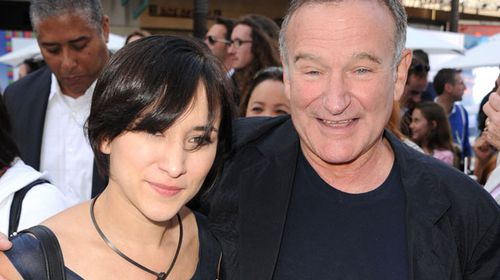 Zelda Williams with her late actor father, Robin Williams. (Getty)