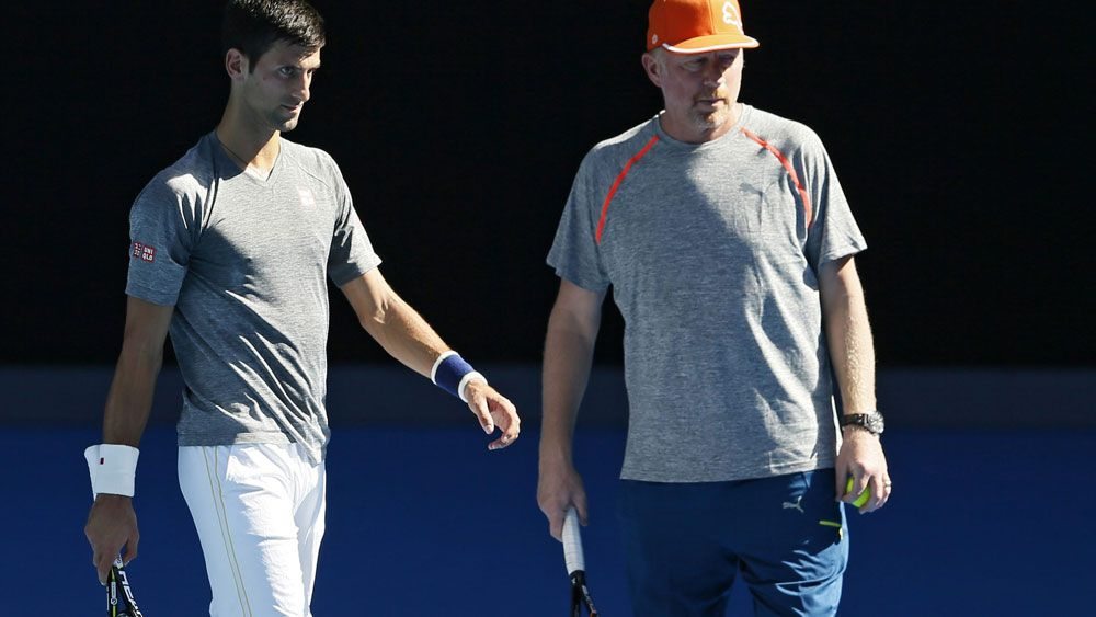 Novak Djokovic won six majors while being coached by Boris Becker. (AAP)